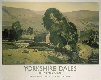 'Yorkshire Dales', LNER poster, 1940.