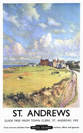 'St Andrews', BR poster, 1957.