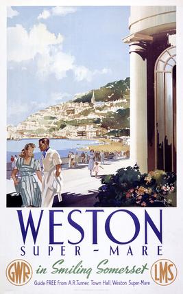 'Weston-super-Mare', GWR/LMS poster, 1946.