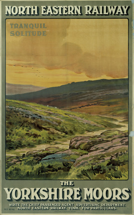 'The Yorkshire Moors', NER poster, c 1910.