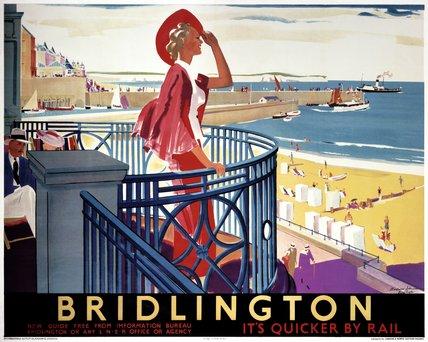 'Bridlington', LNER poster, c 1930s.