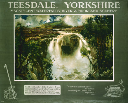 'Teesdale, Yorkshire', NER poster, 1910.
