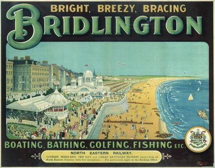 'Bright, Breezy, Bracing Bridlington', NER poster, 1910.