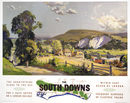 'The South Downs', BR poster, after 1948.