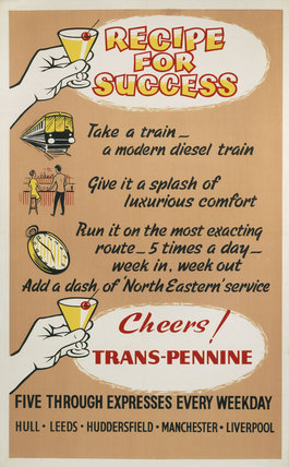 'Recipe for Success', BR poster, c 1960s.