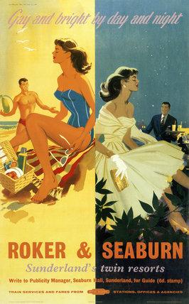 'Roker & Seaburn: Sunderland's Twin Resorts', BR poster, 1962.