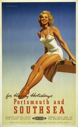 'Portsmouth and Southsea', BR poster, 1950s.