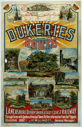 'Dukeries Route', LDEC poster, 1897.