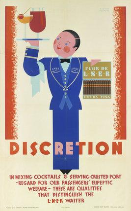 'Discretion', LNER poster, 1933.
