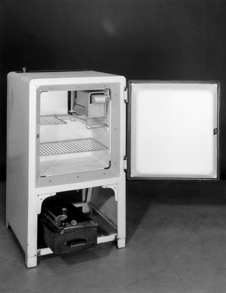 Small Electrolux domestic refrigerator, c 1940s.