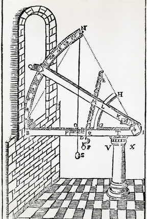 Tycho Brahe's altitude instrument, 1602.