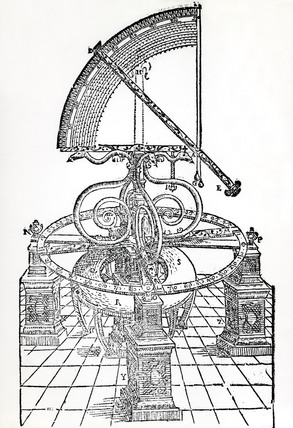 Tycho Brahe's Azimuth Quadrant, 1577.