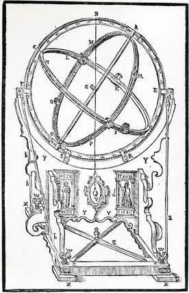 Tycho Brahe's Armillary Equatorial, 1580.