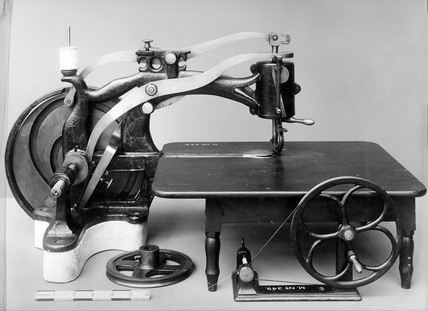 Thomas's lock stitch sewing machine, 1853.