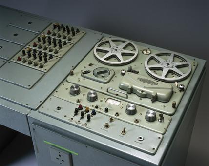 Language laboratory console, c 1960s.