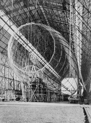 The skeleton of the LZ 126 airship.