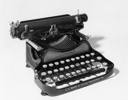 Corona folding portable typewriter, c 1922.