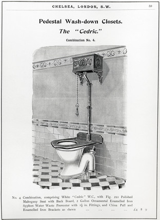 'Pedestal Wash-down Closets - The Cedric', 1902.