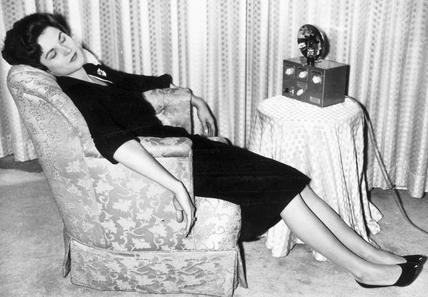 Hypnotism, Chicago, 1958. 'Model Blanche Ko