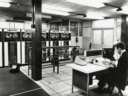 IBM 1410 computer in use at Ford Motor Company, c 1969.