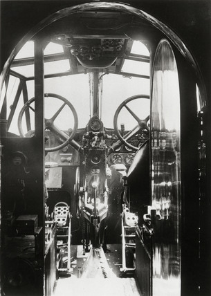 Cockpit of the Handley Page HP42E airliner 'Hannibal', 9 June 1931.