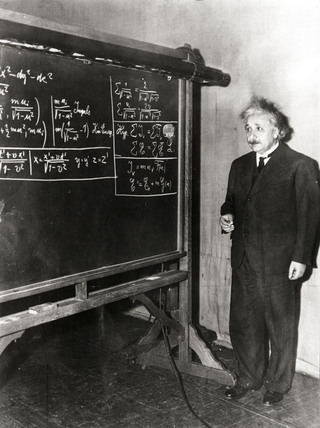 Albert Einstein, German theoretical physicist, 5 January 1935.