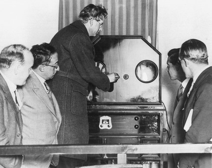 John Logie Baird, Scottish television pioneer, 1934.