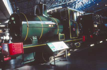 Fireless steam locomotive, 0-4-0F, No.1, 19