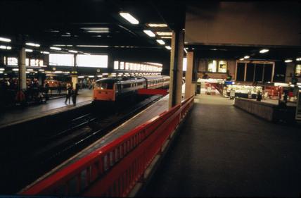 Euston Station, London, c 1990-1995.