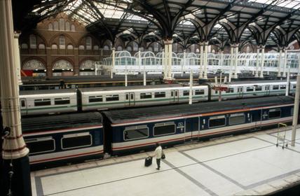 Liverpool Street Station, London, 1993.