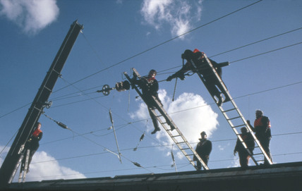 Wiring train, Pilmoor, 1993.