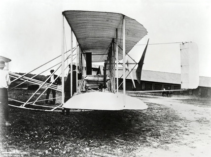 Wright Brothers' Second Signal Corps aircraft, Fort Myer, Virginia, USA, c 1910.
