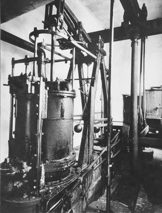 Boulton and Watt 6 hp rotative beam engine at Holyhead Docks, 1827.
