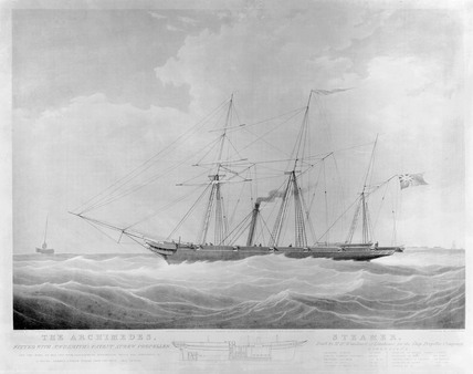 Screw steamer 'Archimedes', 1839.