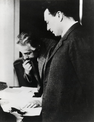 Albert Einstein and Wolfgang Pauli, c 1930s.