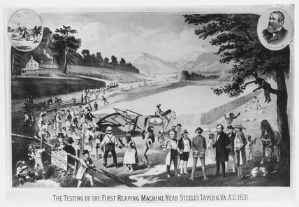 The trial of McCormick's new reaping machine, 25 July 1831.