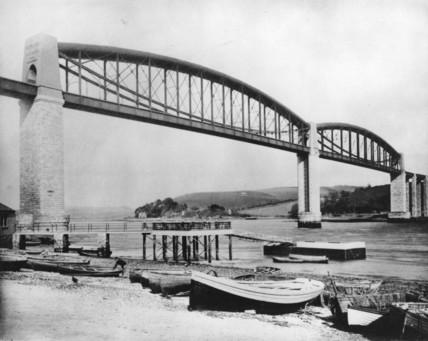 Royal Albert Bridge, Saltash, 1899.