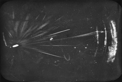 Alpha-ray tracks, early 20th century.