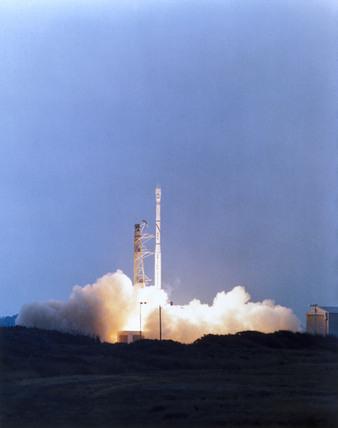 Launch of the British Ariel 6 satellite, 2nd June 1979.