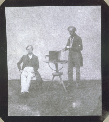 Nicolaas Henneman taking a calotype portrait of Pullen, c 1841.