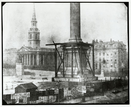 Nelson's Column, Trafalgar Square, under construction, April 1844