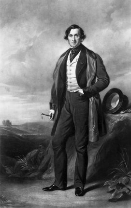 Joseph Locke, English civil engineer and railway builder, 1845.