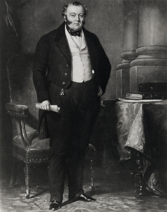 George Hudson, British railway entrepreneur, mid-19th century.
