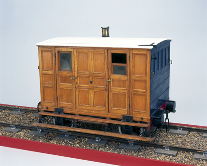 Early second class railway carriage, c 1837