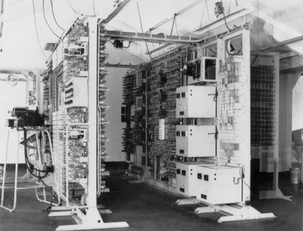 The 'Colossus' computer, Bletchley Park, 1943.