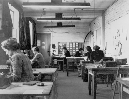 Code-breaking at Bletchley Park, 1943.