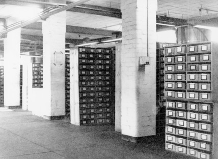 Filing cabinets in Bletchley Park, 1943.