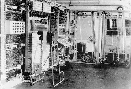 The 'Colossus' computer at Bletchley Park, c 1943.