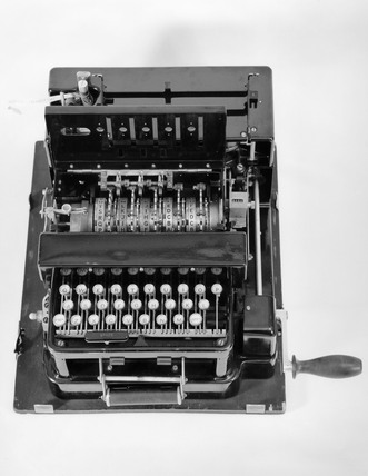 Portable British Typex machine, c 1930s.