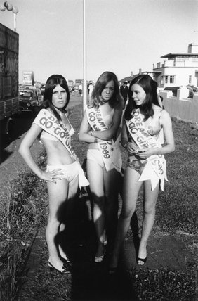 Young female beauty contestants, Margate, Kent, 1969.